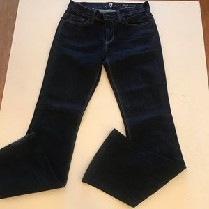 7 for all mankind high waist bootcut dark blue